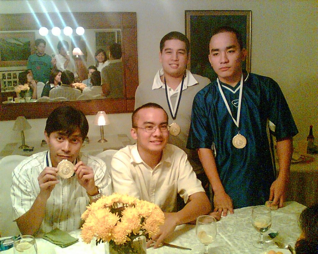 Thank you to these men! Left to Right: Dr. Peter Rivera (the surgeon), bald me, JA Moran (the Transporter), and Joshua Bonifacio (the Bearer)