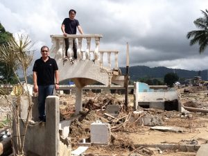 CJ and I at Iligan City after it was devastated during Typhoon Sendong. Our objective was to scout the area and see how we our campus ministry could serve the community there. Our campus missionaries helped give relief goods, and especially excelled at providing trauma counseling for hundreds of students.